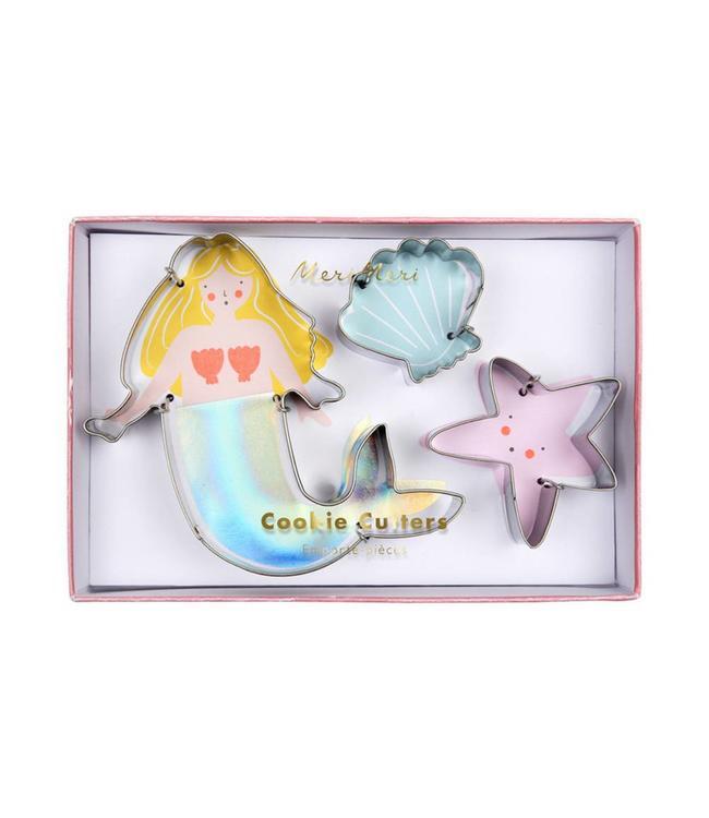 Meri Meri Cookie Cutters  Mermaid - Set van 3 - Uitsteekvormen