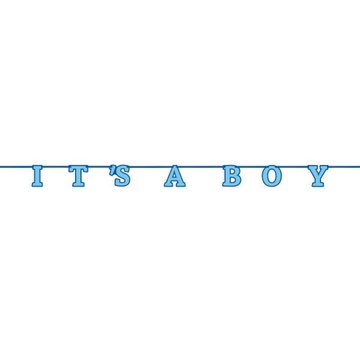 Unique 'It's a Boy' Slinger Blauw - 2,13 meter - Geboorte Jongen
