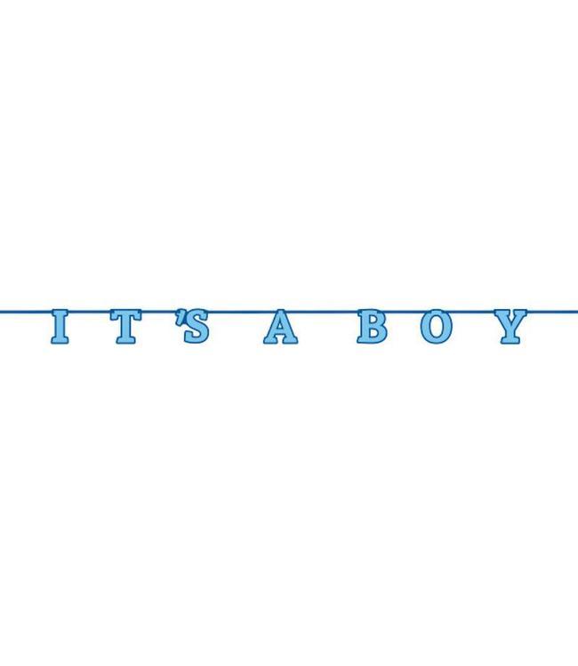 Unique 'It's a Boy' Slinger Blauw - 2,13 meter - Geboorte Jongen