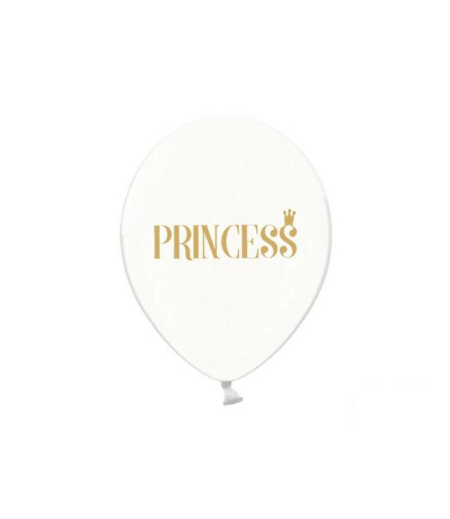 Partydeco Ballonnen 'Princess', crystal clear - 6 stuks