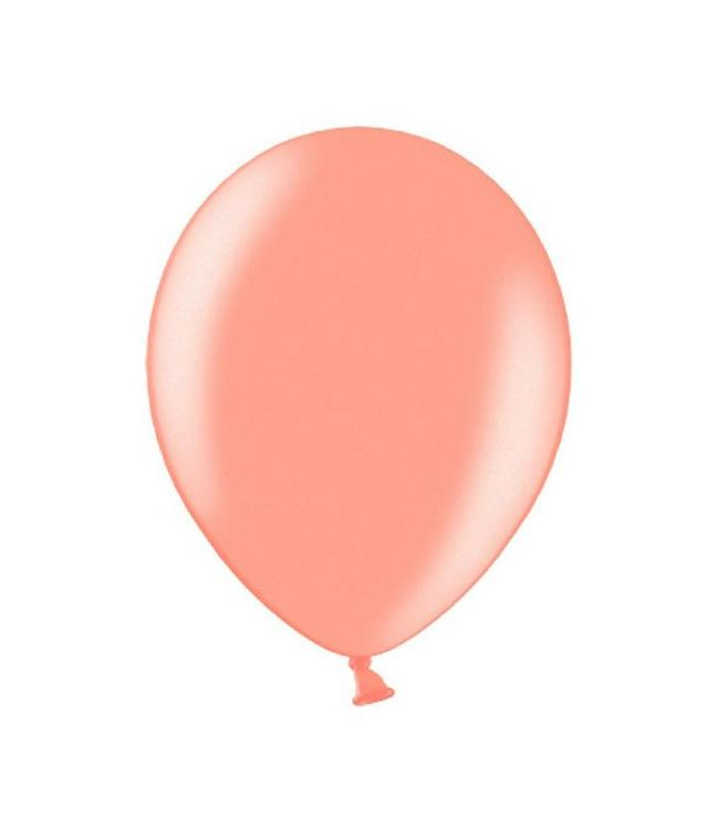 Partydeco Metallic Ballonnen Roségoud - 10 stuks - 30 cm