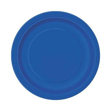 Unique Donkerblauwe Bordjes - 20 stuks - 18 cm