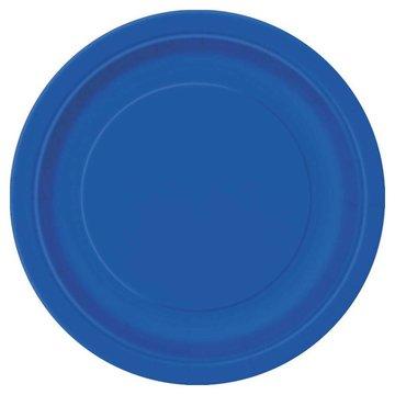 Unique Donkerblauwe Borden - 16 stuks - 23 cm