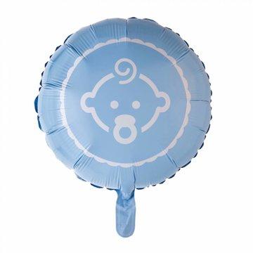 Baby Boy Folieballon (Blauw) - per stuk - 46 cm