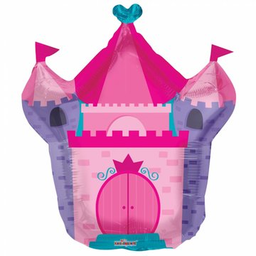 Globos Nordic Kasteel Folieballon (Supershape) - per stuk - 71 cm