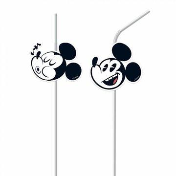Procos Mickey Super Cool Rietjes - 6 stuks - Mickey Mouse Feestartikelen