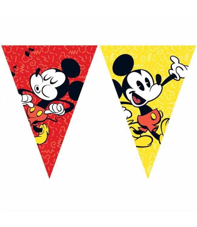 Procos Mickey Super Cool Vlaggenlijn - per stuk - Mickey Mouse Feestartikelen