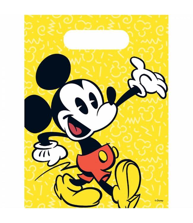 Procos Mickey Super Cool Uitdeelzakjes - 6 stuks - Mickey Mouse Feestartikelen