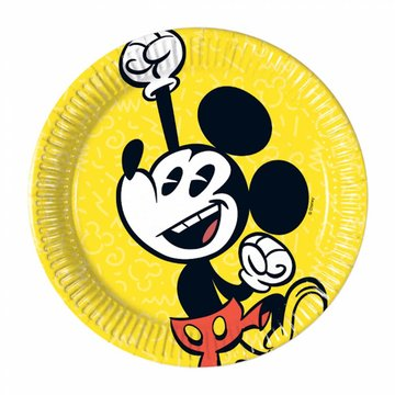 Procos Mickey Super Cool Bordjes - 8 stuks - 20 cm