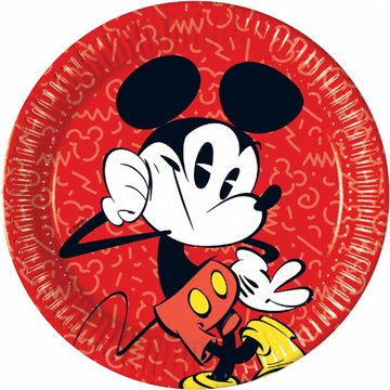 Procos Mickey Super Cool Borden - 8 stuks - 23 cm