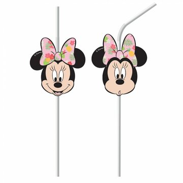 Procos Minnie Tropical Rietjes - 6 stuks - Minnie Mouse feestartikelen