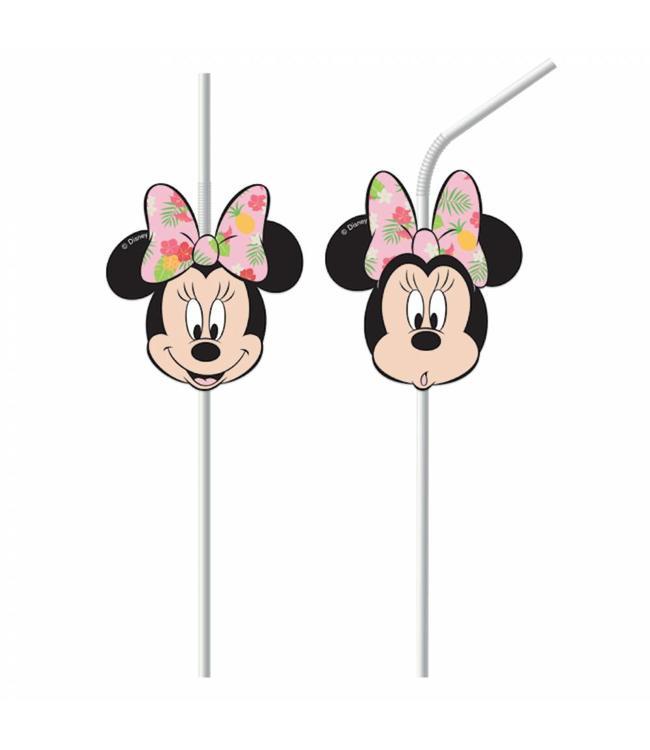 Procos Minnie Tropical Rietjes - 6 stuks - Minnie Mouse feestartikelen