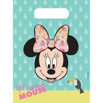 Procos Minnie Tropical Uitdeelzakjes - 6 stuks - Minnie Mouse feestartikelen