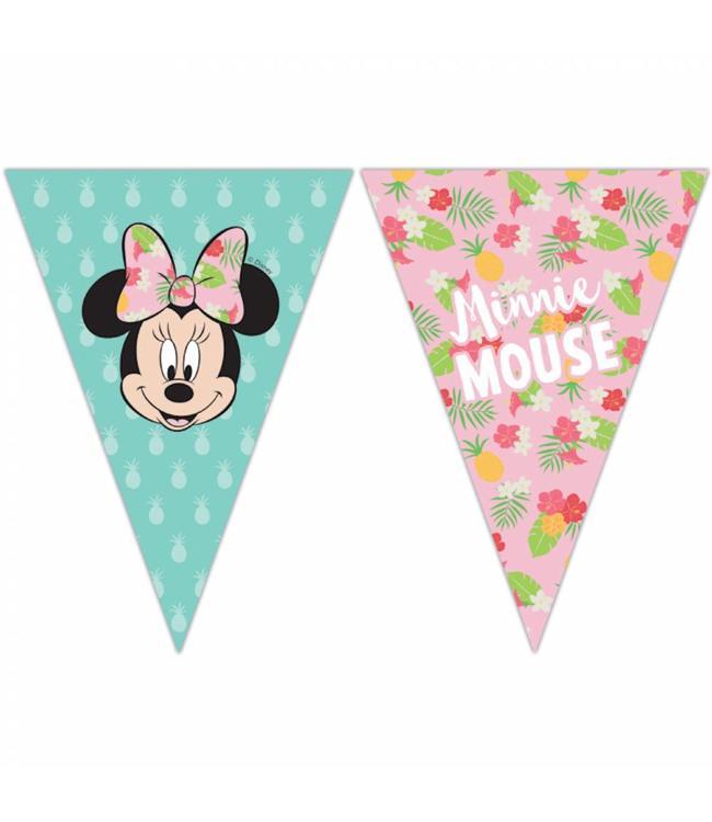 Procos Minnie Tropical Vlaggenlijn -per stuk  - Minnie Mouse feestartikelen