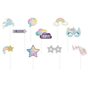 Unique Unicorn Photo Props Set - 10 stuks
