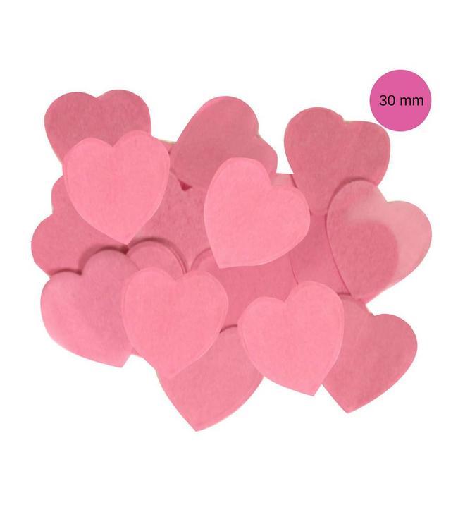 Oaktree Lichtroze Tissue Hart Confetti - per zak - 100 gr