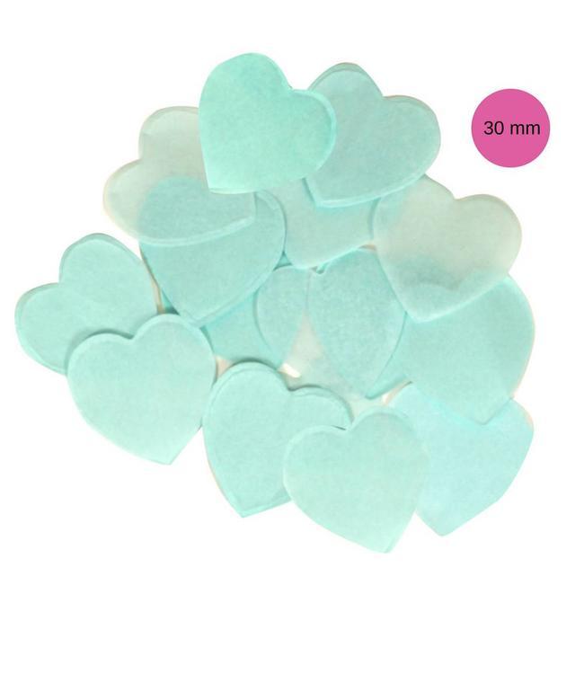 Oaktree Lichtblauwe Tissue Hart Confetti - per zak - 100 gr