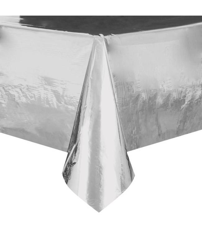 Unique Zilver Folie Tafelkleed - per stuk - 137 x 274 cm