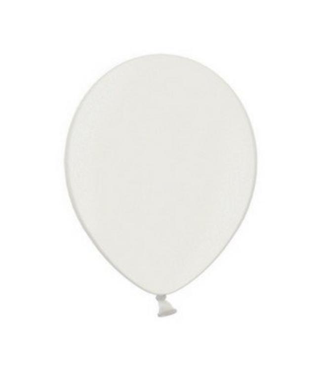 Partydeco Metallic Ballonnen Wit - 50 stuks - 30 cm