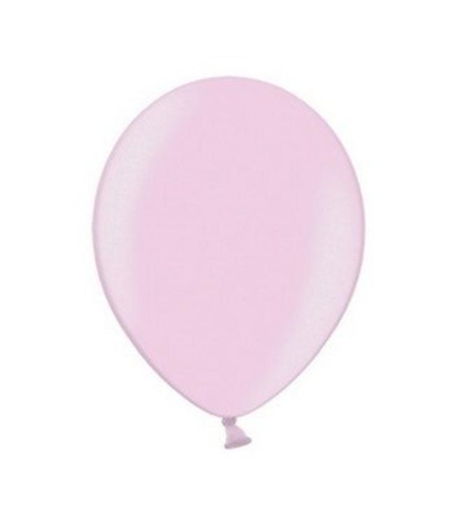 Partydeco Metallic Ballonnen Lichtroze - 50 stuks - 30 cm