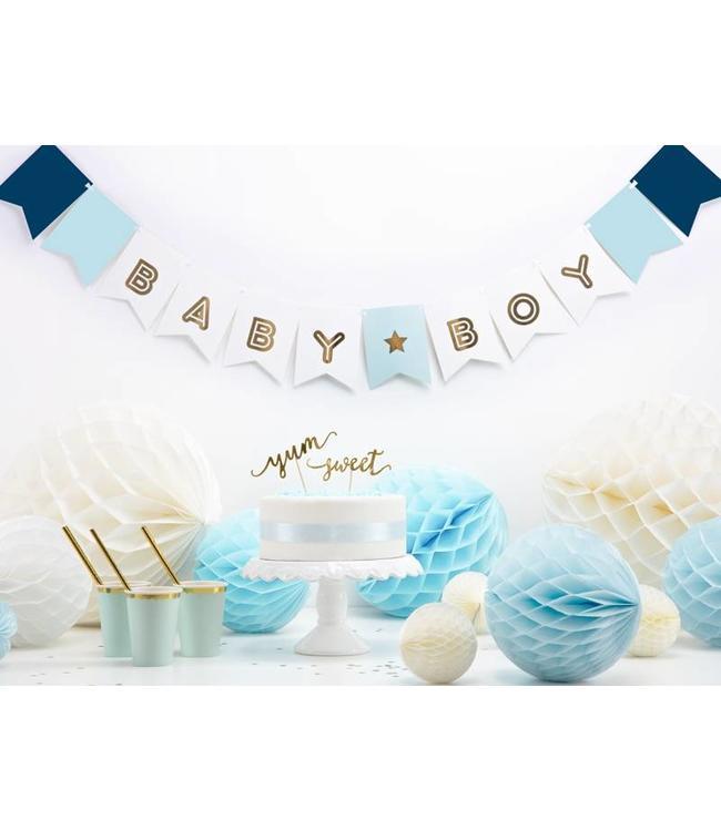 Partydeco Baby Boy Slinger - per stuk - geboorteslinger jongen