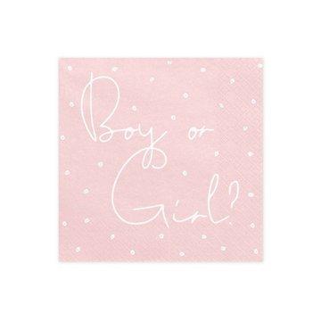 Ginger Ray Boy or Girl Servetten - 20 stuks - Baby gender reveal feestartikelen