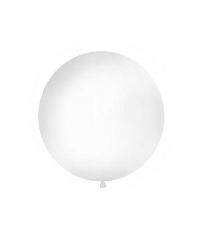 Partydeco Jumbo Ballon Wit - per stuk - ballon van 1 meter
