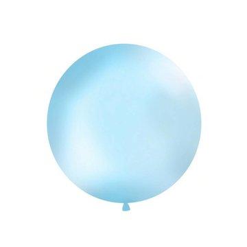 Partydeco Jumbo Ballon Lichtblauw - per stuk - ballon van 1 meter