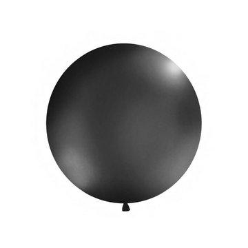 Partydeco Jumbo Ballon Zwart - 1 meter