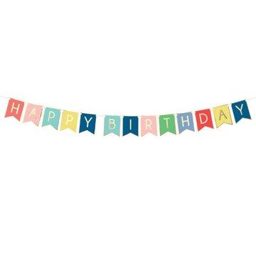 Partydeco Slinger 'Happy Birthday' Trendy - per stuk - Verjaardagsslinger