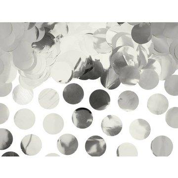 Partydeco Zilveren Confetti - per zak - 15 gr