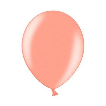 Partydeco Metallic Ballonnen Roségoud - 10 stuks - 27 cm
