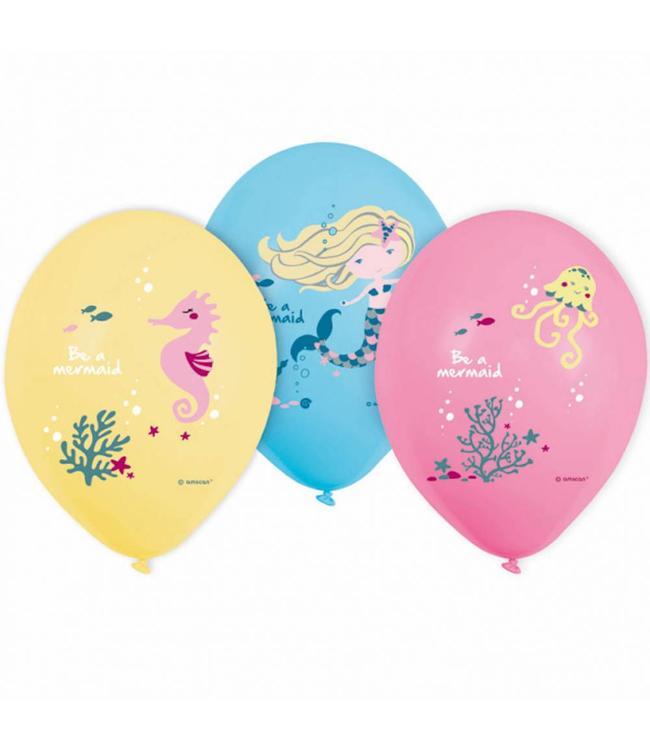 Amscan Be a Mermaid Ballonnen - 6 stuks - Zeemeermin Feestartikelen