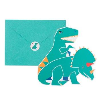 My Little Day Dinosaurus Uitnodigingen - 8 stuks - Dino Feestartikelen
