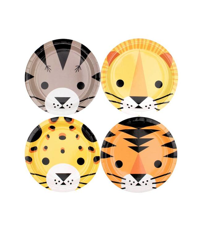 My Little Day Wilde Katten Bordjes - 8 stuks - 18 cm - Mini Felines