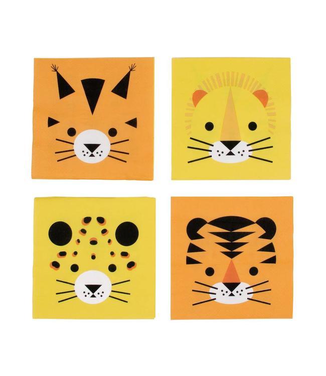 My Little Day Wilde Katten Servetjes - 20 stuks - 25 cm - Mini Felines