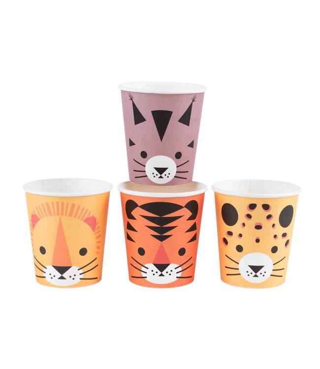 My Little Day Wilde Katten Bekers - 8 stuks - Mini Felines