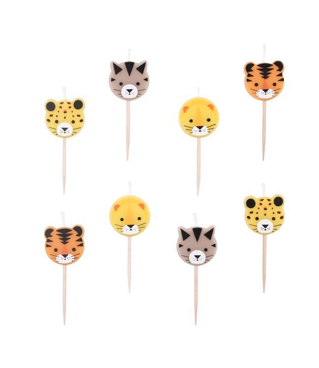 My Little Day Wilde Katten Kaarsjes - 8 stuks - Mini Felines