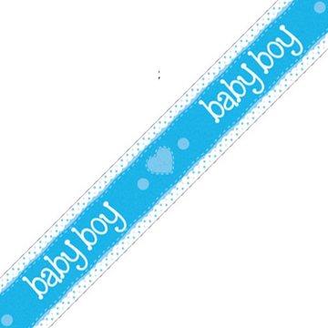 Oaktree Baby Boy Banner Dots & Hearts Blue (Holografisch) - per stuk
