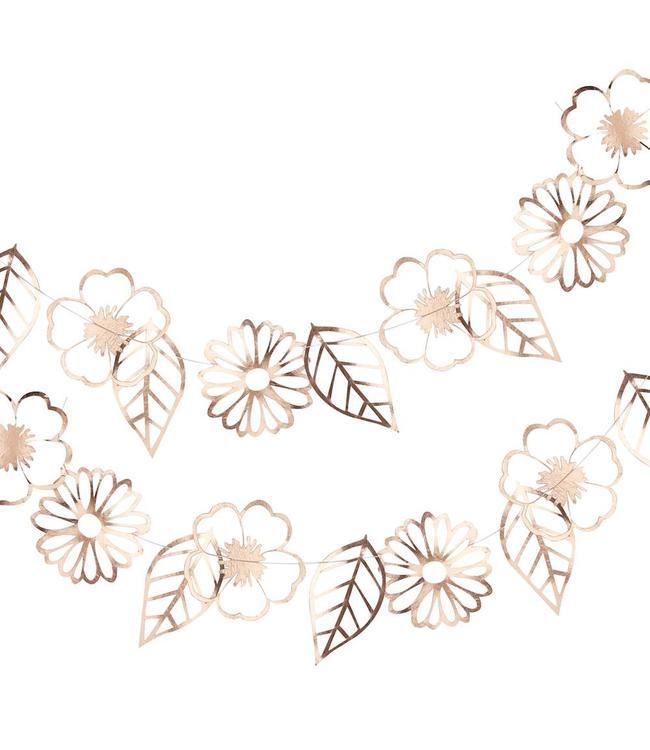 Ginger Ray Ditsy Floral Bloemenslinger Roségoud - per stuk - Boho Chic