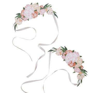 Ginger Ray Bloemen Haarbanden - 8 stuks - Boho Chic / Floral Party
