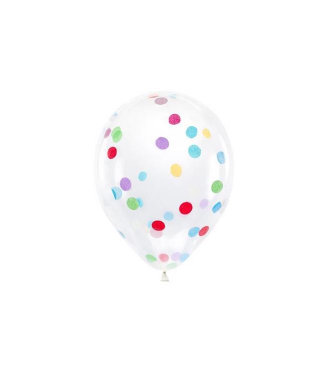 Partydeco Confetti Ballonnen Feestelijk - 6 stuks - 30 cm