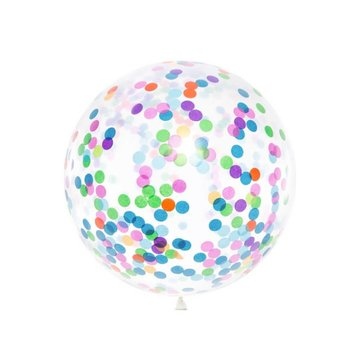 Partydeco Jumbo Confetti Ballon Feestelijk - per stuk - 1 meter