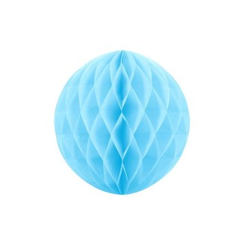Partydeco Honeycomb Lichtblauw - per stuk - (3 maten)