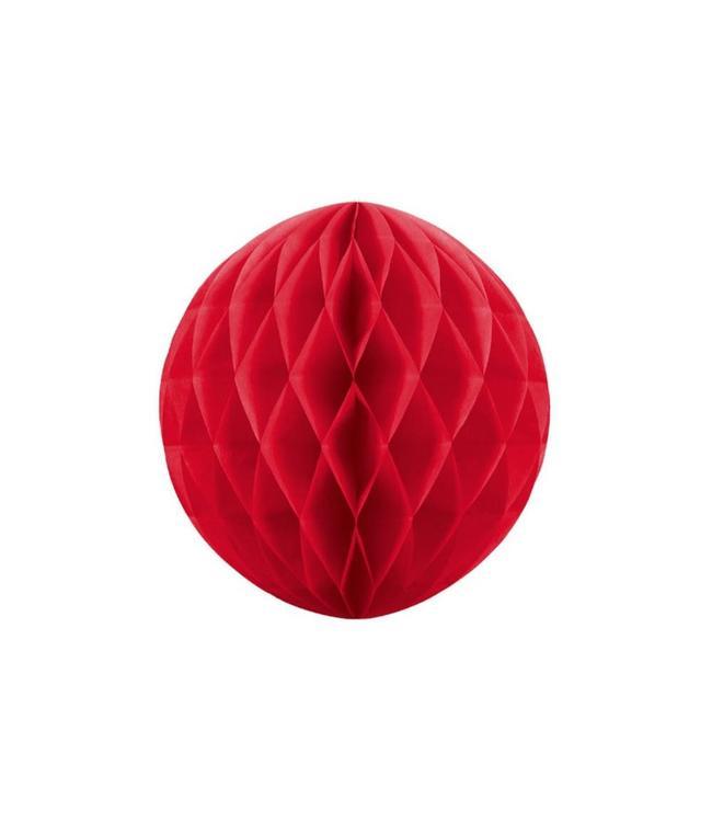 Partydeco Honeycomb Rood - per stuk - (3 maten)
