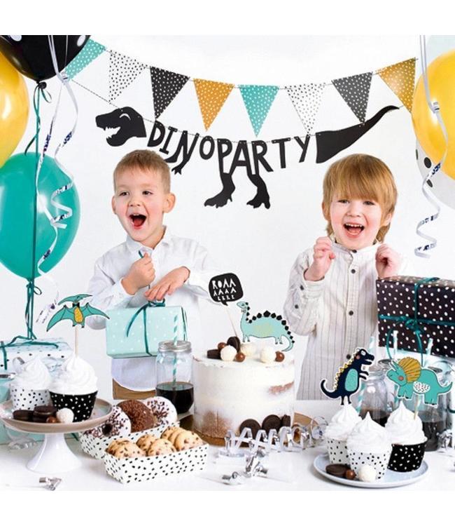 Partydeco Feestpakket Dinosaurus - set van 39 items - Party box voor een dino feestje
