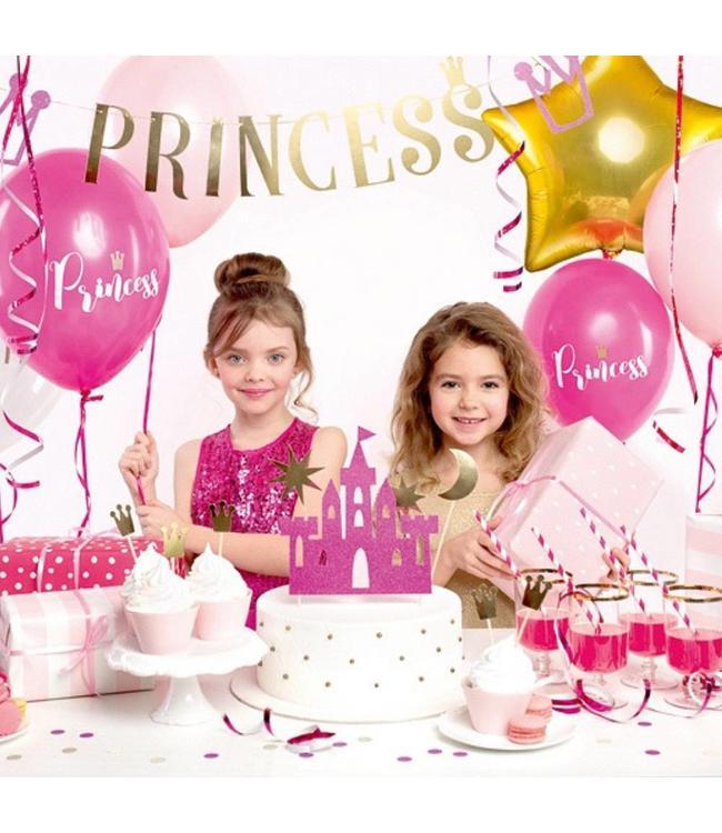 Partydeco Feestpakket Prinses - set van 31 items - Party box voor een prinsessenfeestje