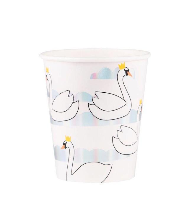 My Little Day Swan Bekers - 8 stuks - papier