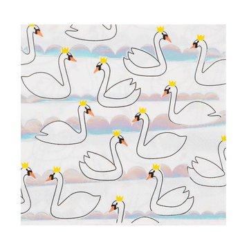 My Little Day Swan Servetten - 16 stuks - 33 cm (uitgevouwen)