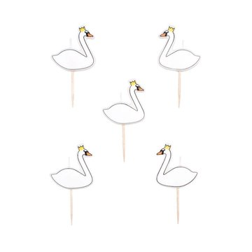 My Little Day Swan Kaarsjes - 5 stuks - Taartkaarsjes